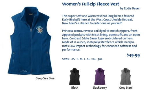 Women's Fleece Vest copy